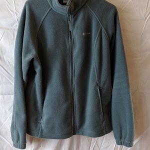 Men's green Columbia fleece jacket size XL